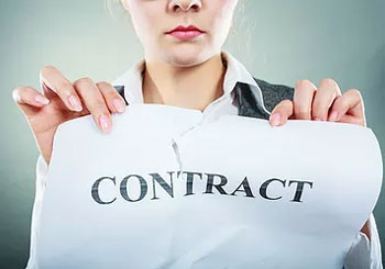 woman ripping up contract