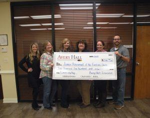 avery hall donates beaver run elementary school